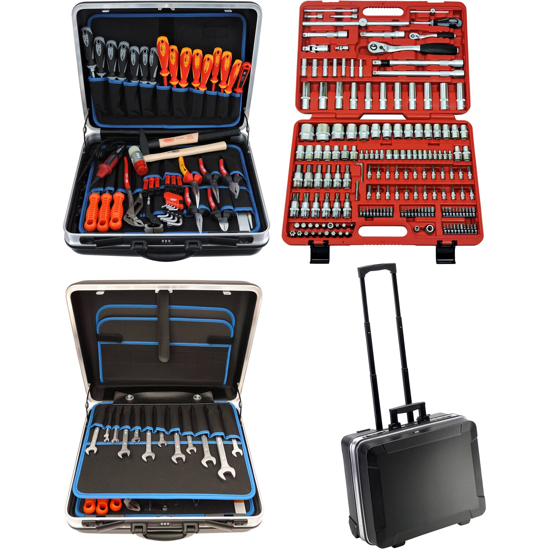 Famex Werkzeugkoffer Trolley 604-09 inkl. Steckschlüsselsatz