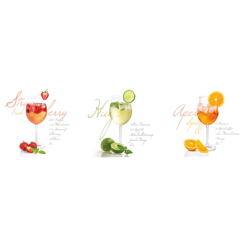 Eurographics  Wandtattoo 3-teilig Hugo, Aperol, Strawberry Fresh