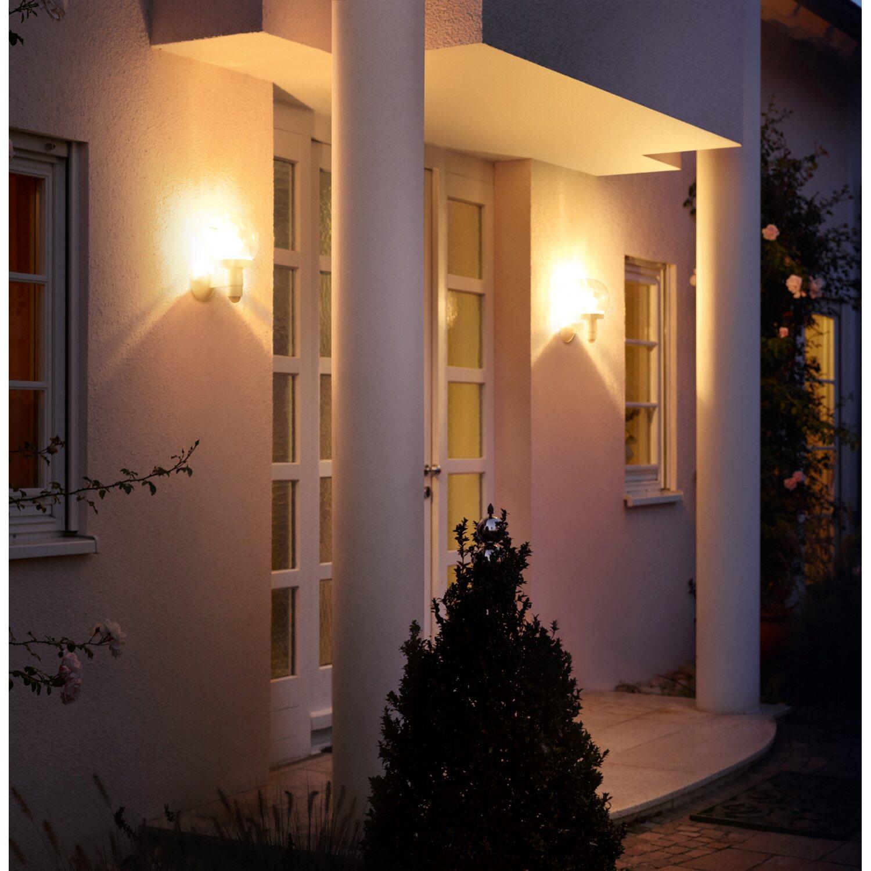 steinel au enwandleuchte mit bewegungsmelder l 115 s silber eek e a kaufen bei obi. Black Bedroom Furniture Sets. Home Design Ideas