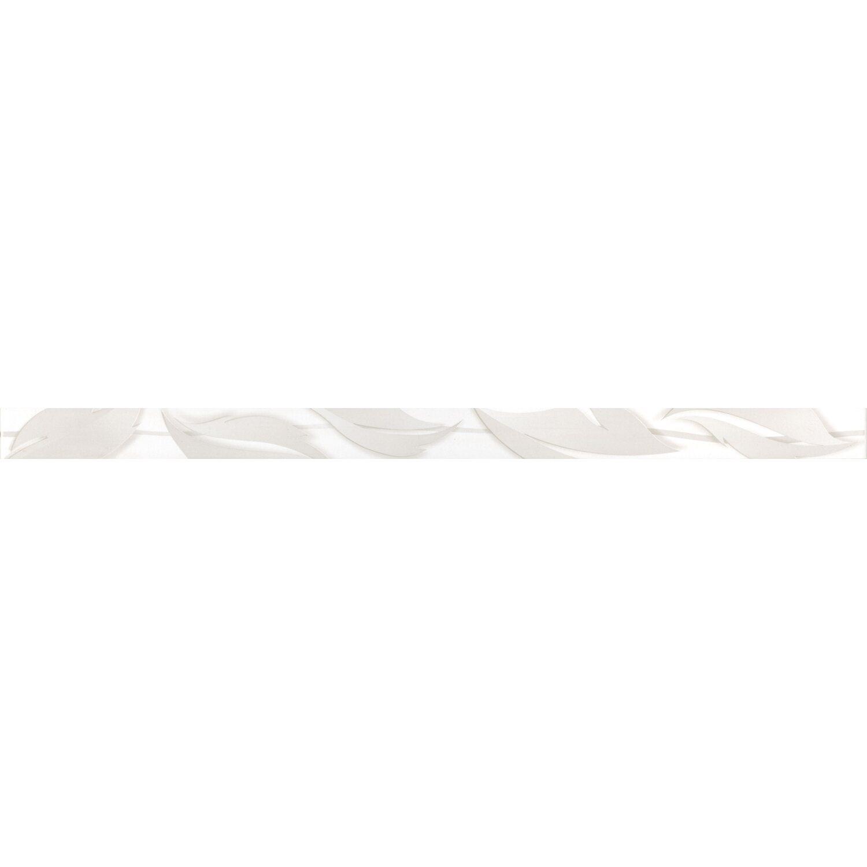 Sonstige Bordüre Arife Blätter Weiß 3,5 cm x 60 cm