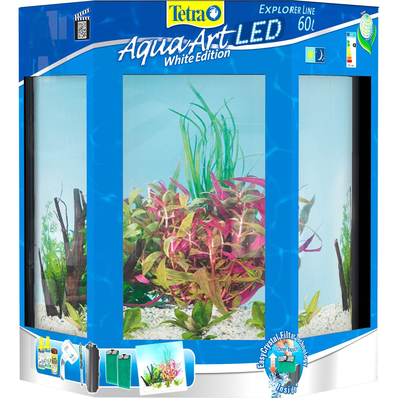 Tetra Aquarium Set Aquaart Explorer Line Tropical Led 60 L Weiss