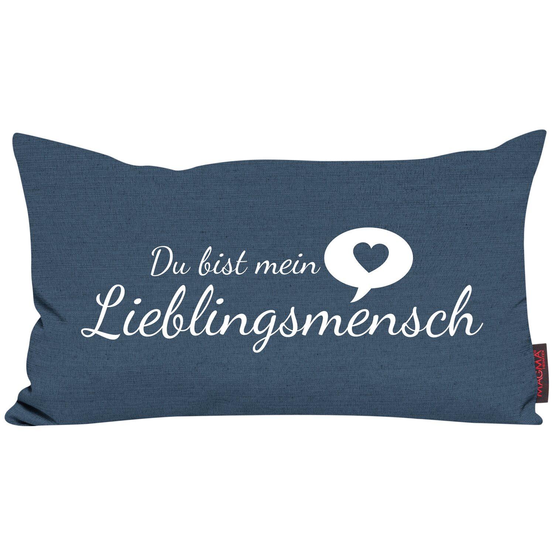 magma kissen lieblingsmensch 30 cm x 50 cm blau kaufen bei obi. Black Bedroom Furniture Sets. Home Design Ideas