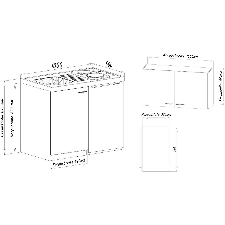 respekta minik che mk100esrosc 100 cm rot eiche s gerau nachbildung kaufen bei obi. Black Bedroom Furniture Sets. Home Design Ideas