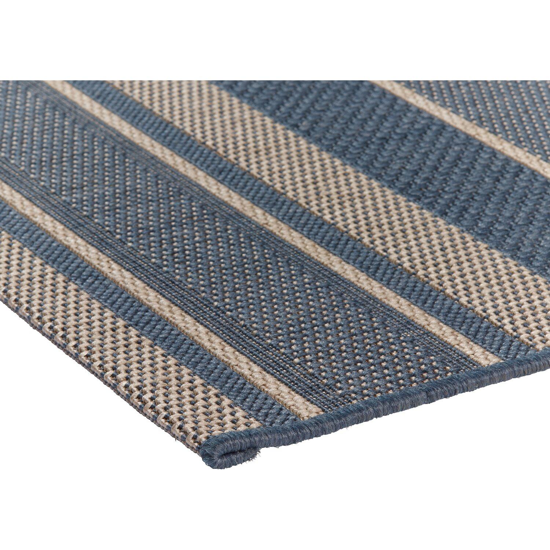 obi teppich toleda blau gestreift 80 cm x 180 cm kaufen bei obi. Black Bedroom Furniture Sets. Home Design Ideas