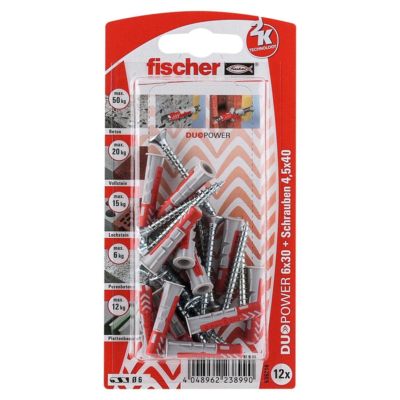 Fischer  Duopower 6 x 30 S K (12 ST) mit Schraube