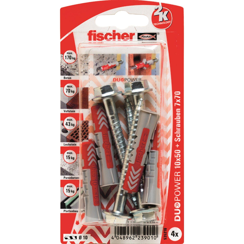 Fischer  Duopower 10 x 50 S K (4 ST) mit Sicherheitsschraube