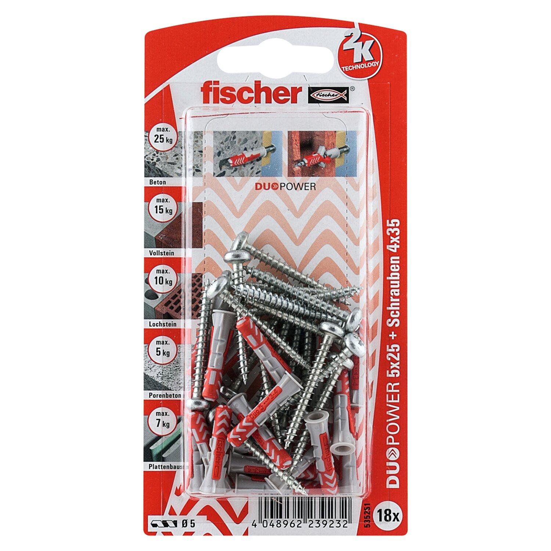 Fischer  Duopower 5 x 25 S PH K (18 ST) mit Panhead-Schraube