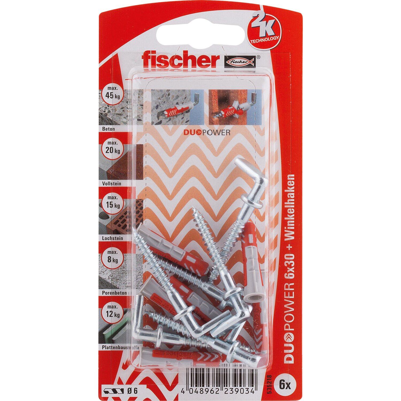 Fischer  Duopower 6 x 30 WH K (6 ST) mit Winkelhaken