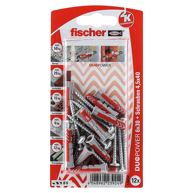 Fischer  Duopower 6 x 30 S PH K (12 ST) mit Panhead-Schraube