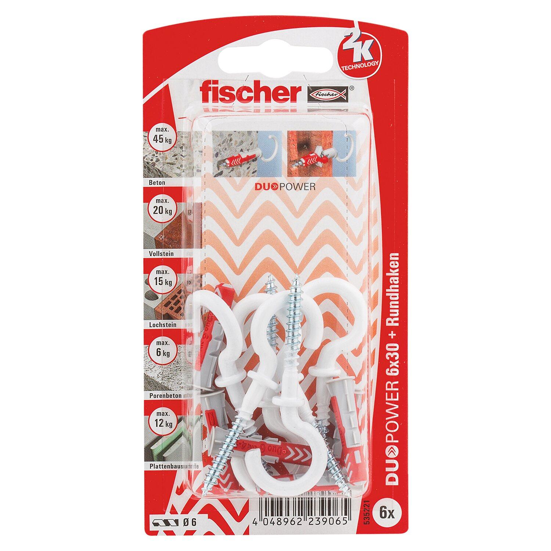 Fischer  Duopower 6 x 30 RH N K (6 ST) mit Rundhaken