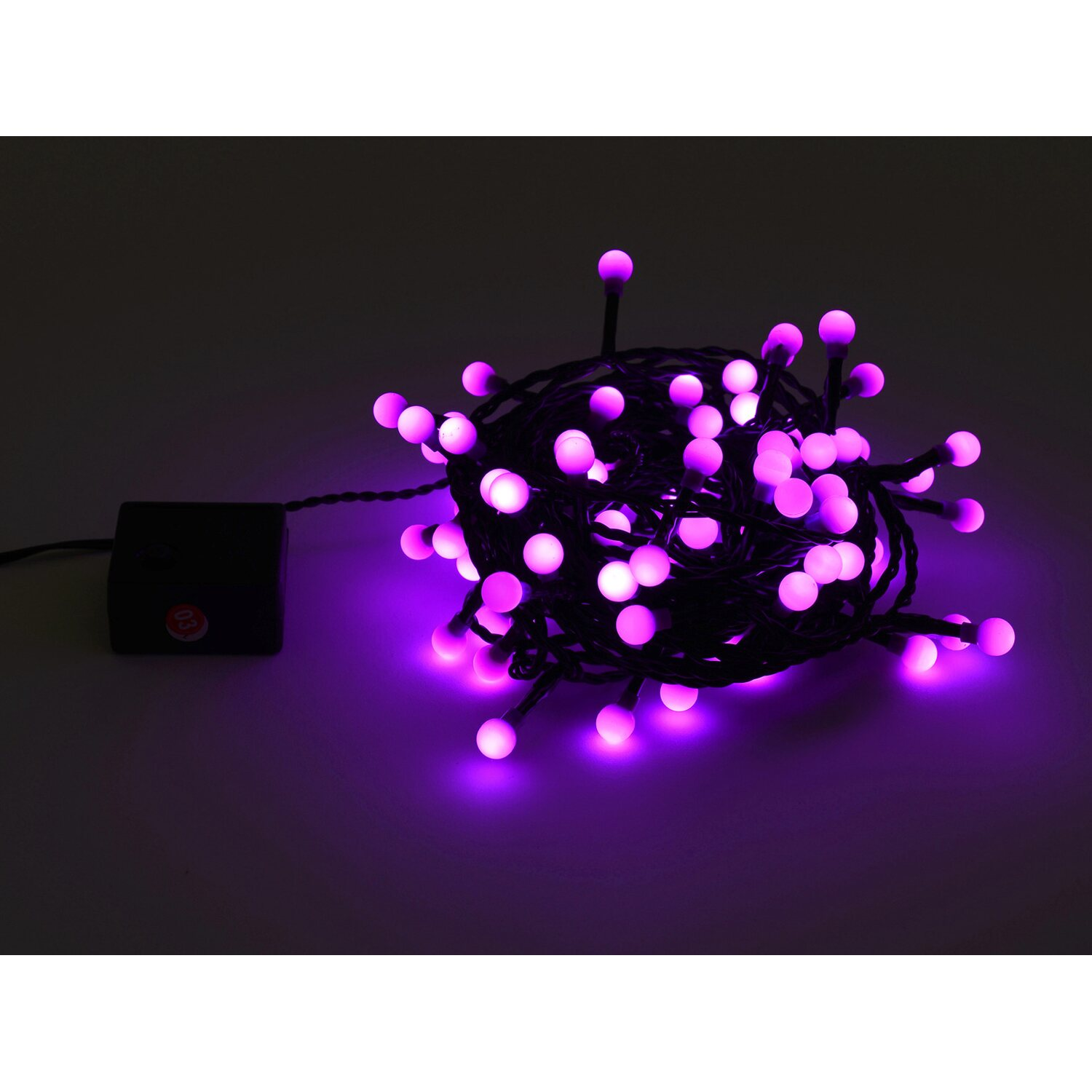 takasho lichterkette berry mit 80 led violett kaufen bei obi. Black Bedroom Furniture Sets. Home Design Ideas