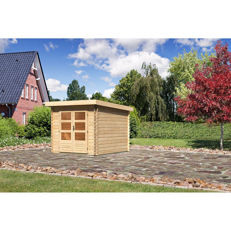 Karibu Holz-Gartenhaus Ängelholm 4 Natur B x T: 220 cm x 280 cm