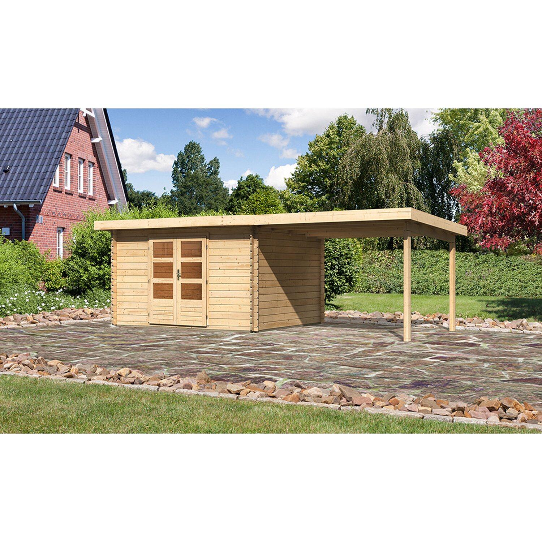 karibu holz gartenhaus ngelholm 7 set natur 357 cm x 297. Black Bedroom Furniture Sets. Home Design Ideas