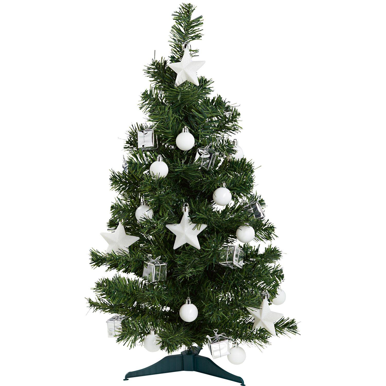 Cmi kunsttanne 60 cm inklusive deko wei silber kaufen bei obi - Weihnachtsbaum obi ...