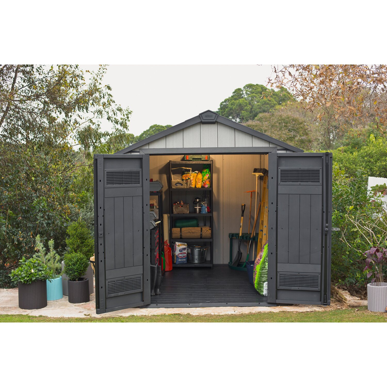 keter gartenhaus oakland 757 b x t 210 cm x 216 cm kaufen. Black Bedroom Furniture Sets. Home Design Ideas