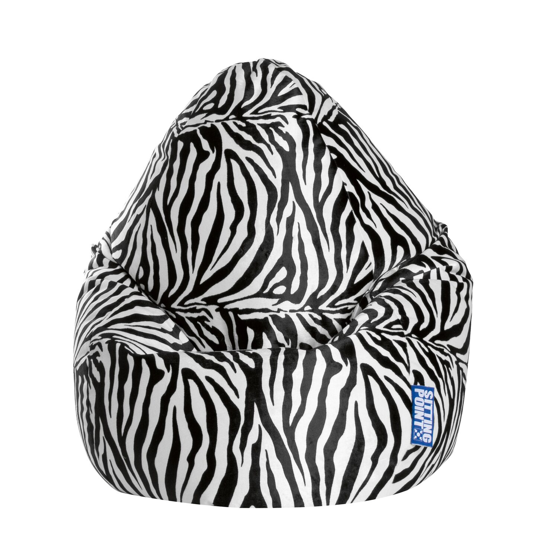 Sitting Point Sitzsack BeanBag Afro XXL 300 l Zebra