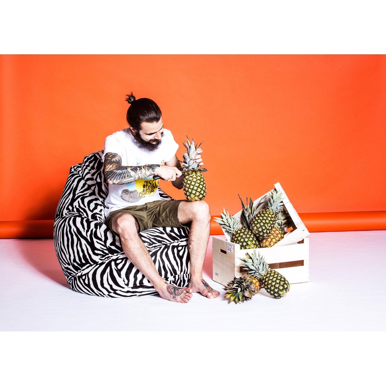 Sitting Point Sitzsack Beanbag Afro Xxl 300 L Zebra Kaufen Bei Obi