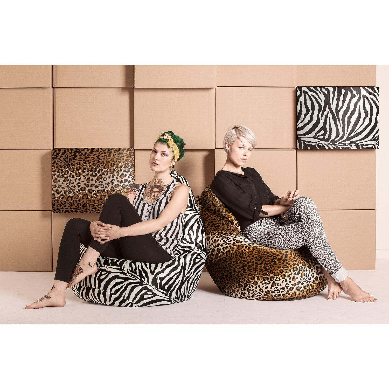 Sitting Point Sitzsack Beanbag Afro Xxl 300 L Leopard Kaufen Bei Obi