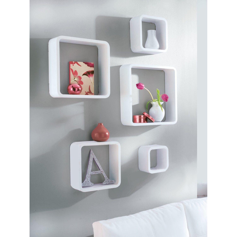 Best Of Home Regalset Cube 5 Teilig Weiss Kaufen Bei Obi