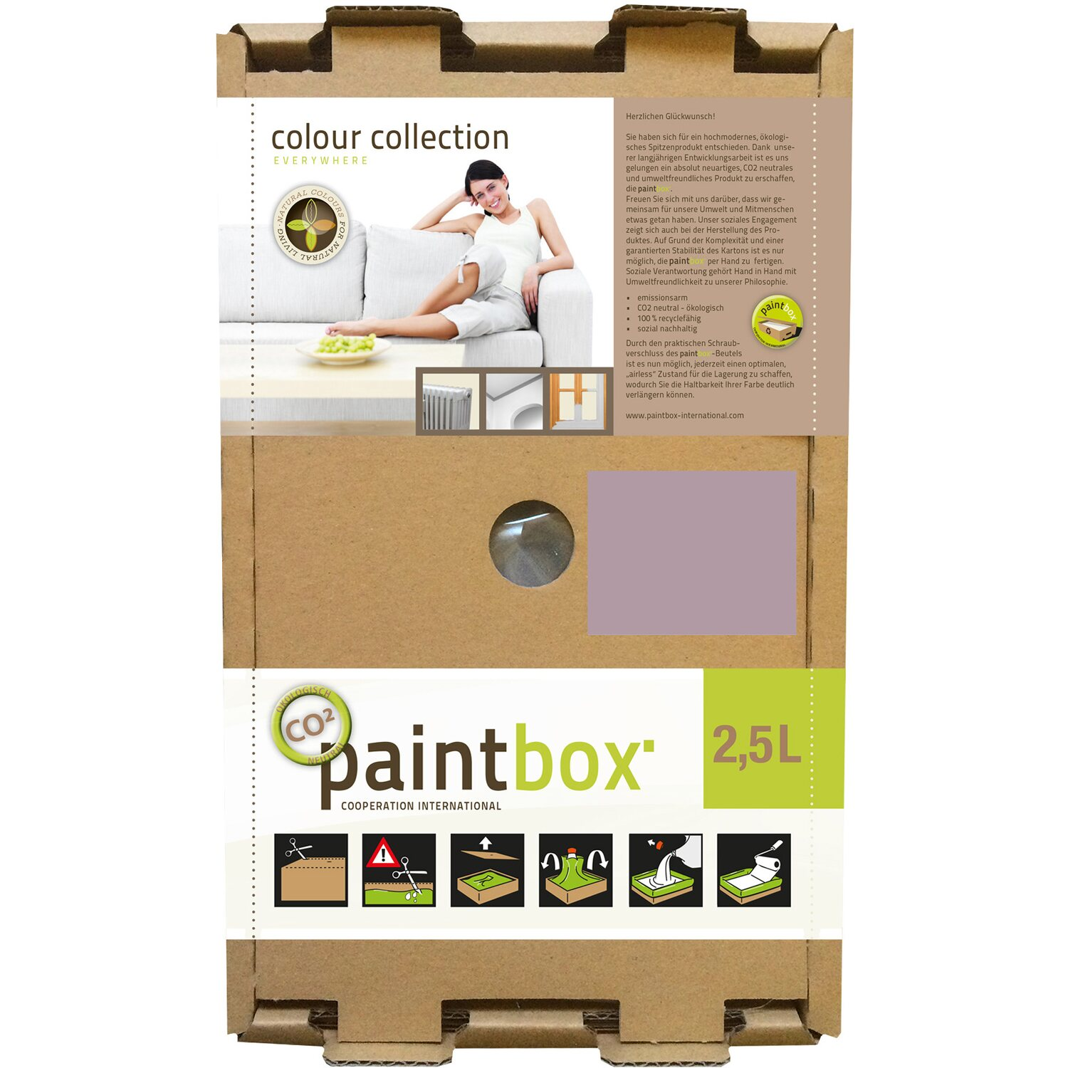 Paintbox Colour Collection Wandfarbe Flieder Seidenmatt 2