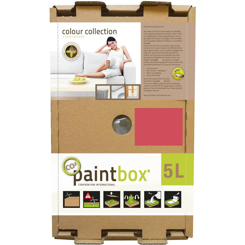 Paintbox Colour Collection Wandfarbe Weinrot Seidenmatt 5