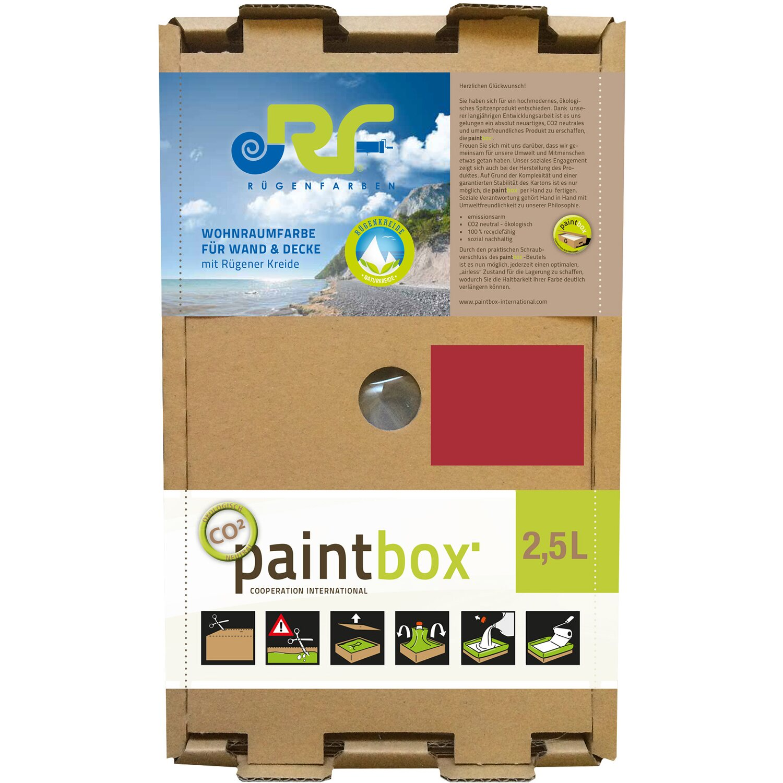 Paintbox Rügenfarben Wandfarbe Rügen-Rot Seidenmatt 2,5 L
