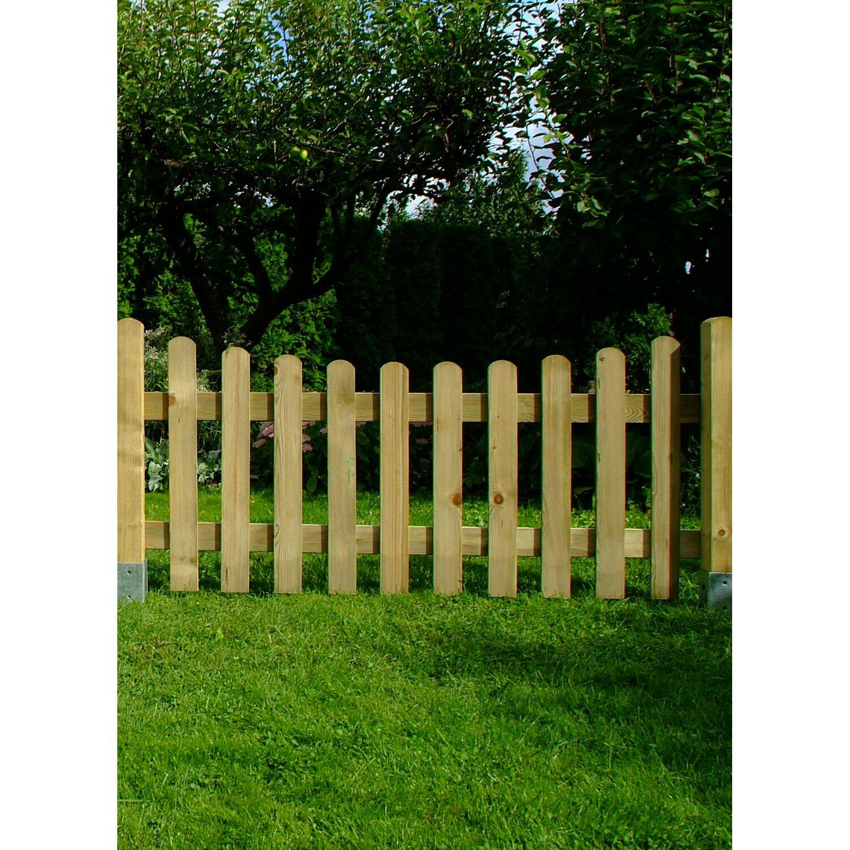 staketenzaun mit abwärtsbogen druckimprägniert 80 cm x 180 cm kaufen