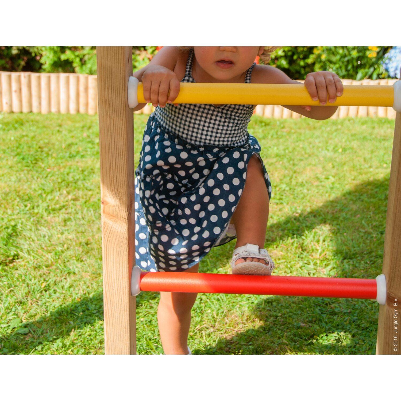 Jungle Gym Holzspielturm Home 2 Schaukel mit Rutsche Rot kaufen