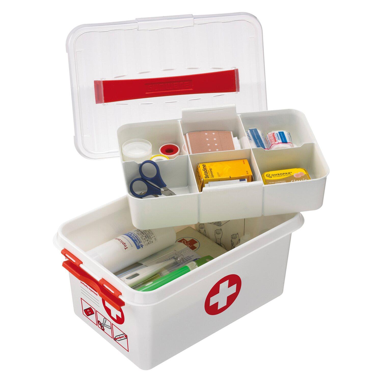 erste hilfe box mit deckel und einsatz 6 l kaufen bei obi. Black Bedroom Furniture Sets. Home Design Ideas