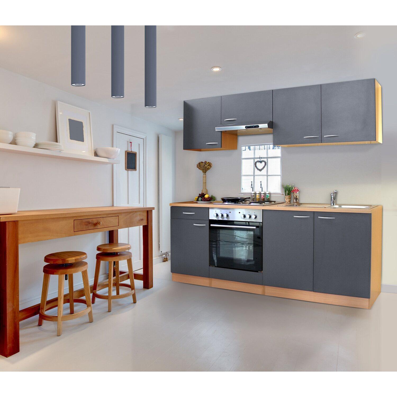 respekta k chenzeile kb210bge 210 cm grau buche nachbildung kaufen bei obi. Black Bedroom Furniture Sets. Home Design Ideas