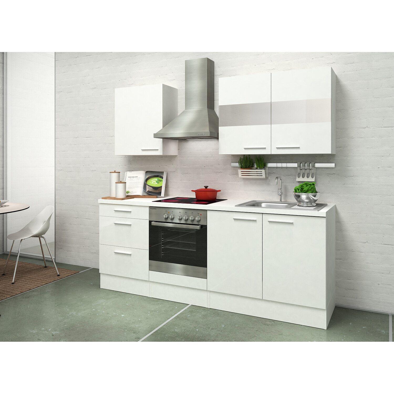 Respekta Premium Küchenzeile RP210WWC 210 cm Weiß kaufen bei OBI