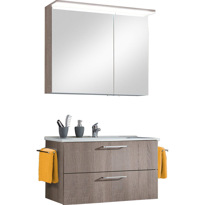 optifit badm bel set maxx 85 cm kastanie mit ausz gen 3. Black Bedroom Furniture Sets. Home Design Ideas