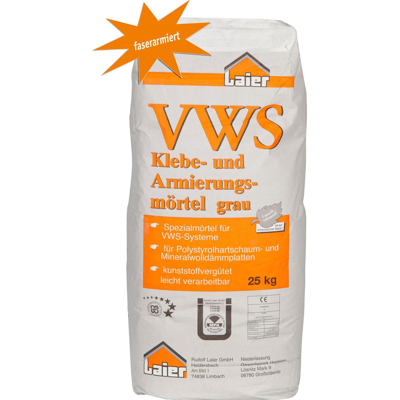 Laier Klebe- und Armierungsmörtel Grau Faserarmiert 25 kg