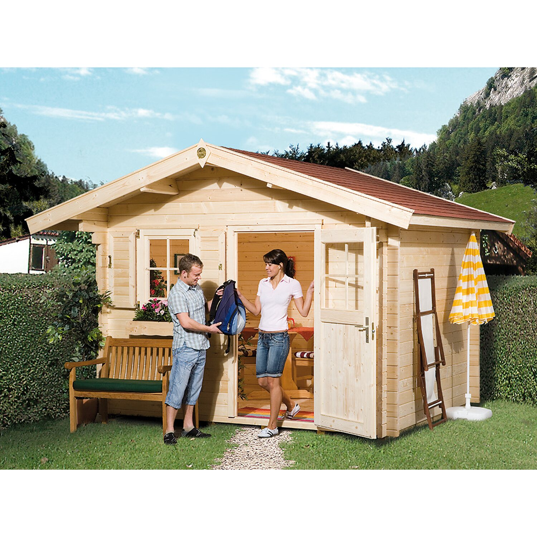 gartenhaus mit vordach. Black Bedroom Furniture Sets. Home Design Ideas