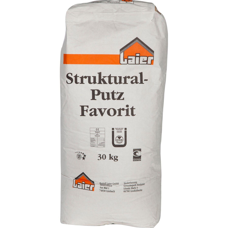Laier Strukturalputz Favorit Korn 1,5 mm Weiß 3...