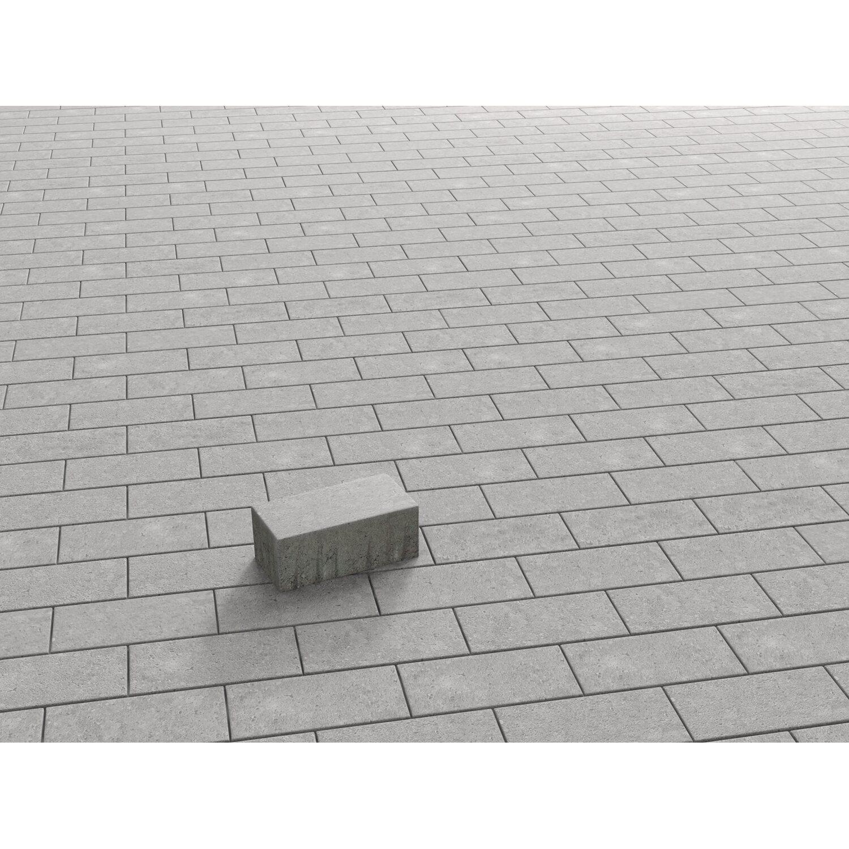 Rechteck-Pflaster Beton Grau 20 cm x 10 cm x 8 cm