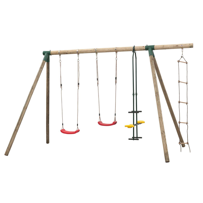 SwingKing Doppel-Schaukel Danielle mit Strickleiter kaufen bei OBI