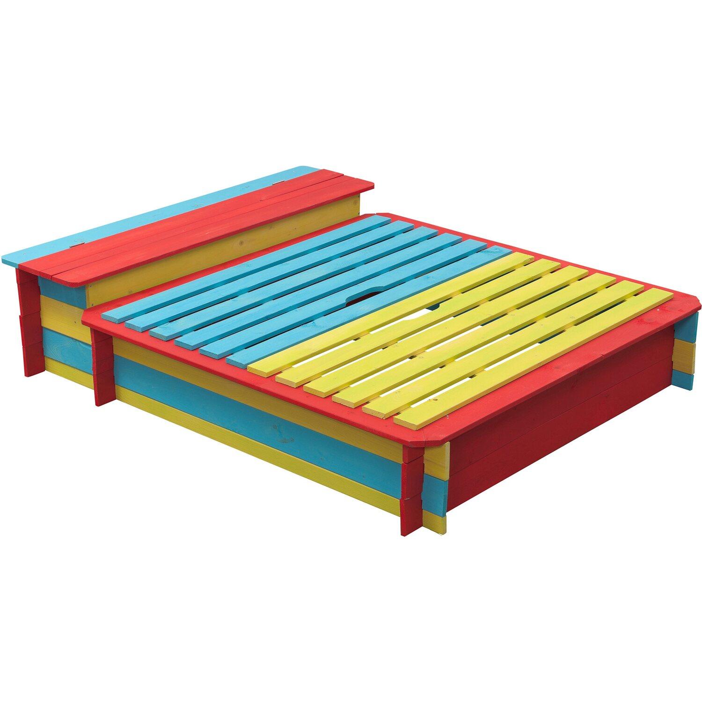 SwingKing Sandkasten Jade farbig 150 cm x 120 cm | Kinderzimmer > Spielzeuge > Sandkästen | Nadelholz fsc | SwingKing