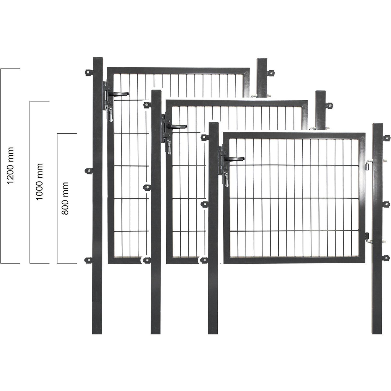 solid einzeltor stahl anthrazit mit f llung f r doppelstabmatte 100 cm x 100 cm kaufen bei obi. Black Bedroom Furniture Sets. Home Design Ideas