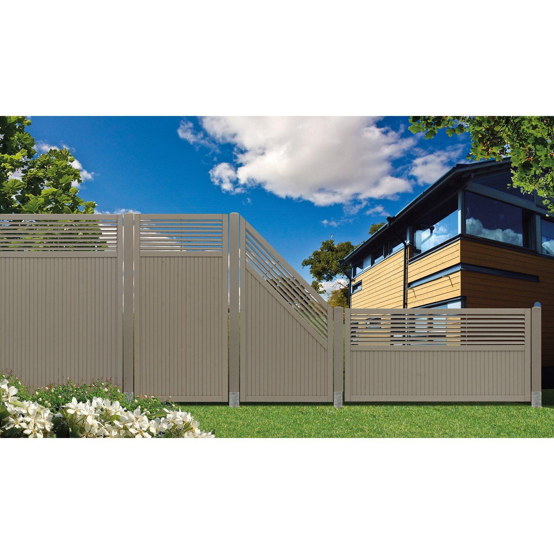 Sichtschutzzaun Element York Grau 90 cm x 180 cm kaufen bei OBI