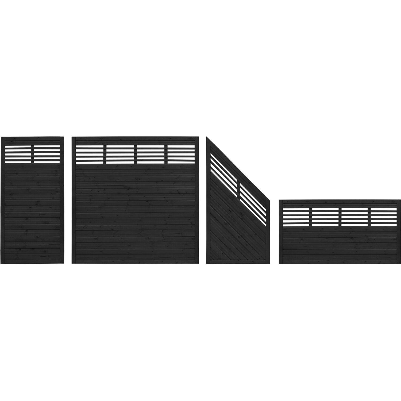 Sichtschutzzaun Element Nicea Anthrazit 90 Cm X 180 Cm Kaufen Bei Obi
