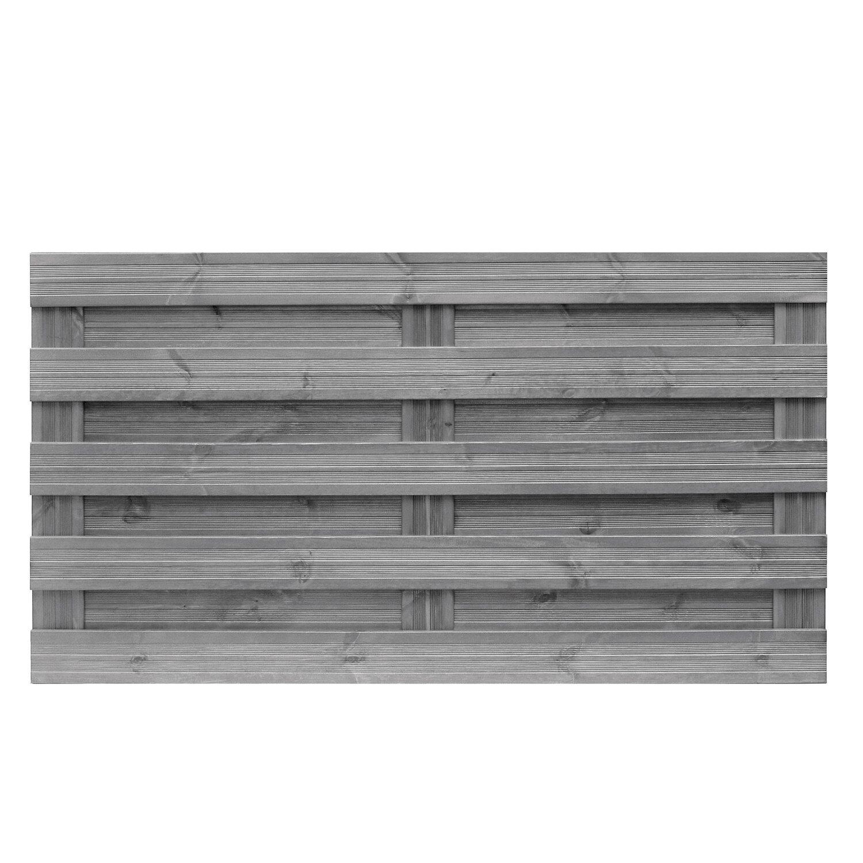 Sichtschutzzaun Element Goch Grau 90 cm x 180 cm kaufen bei OBI