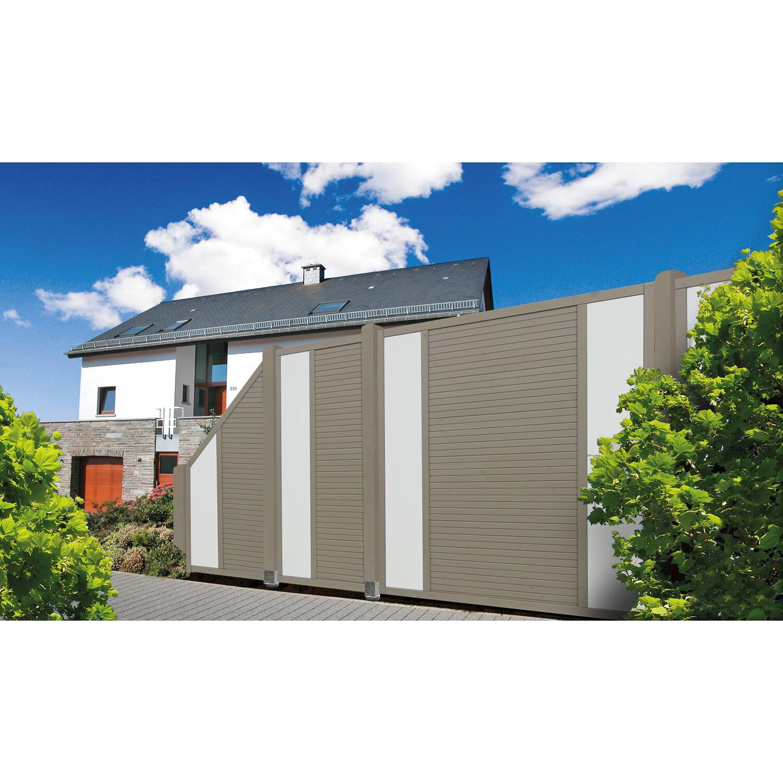 Sichtschutzzaun Element Boston Grau 180 cm x 180 cm kaufen bei OBI