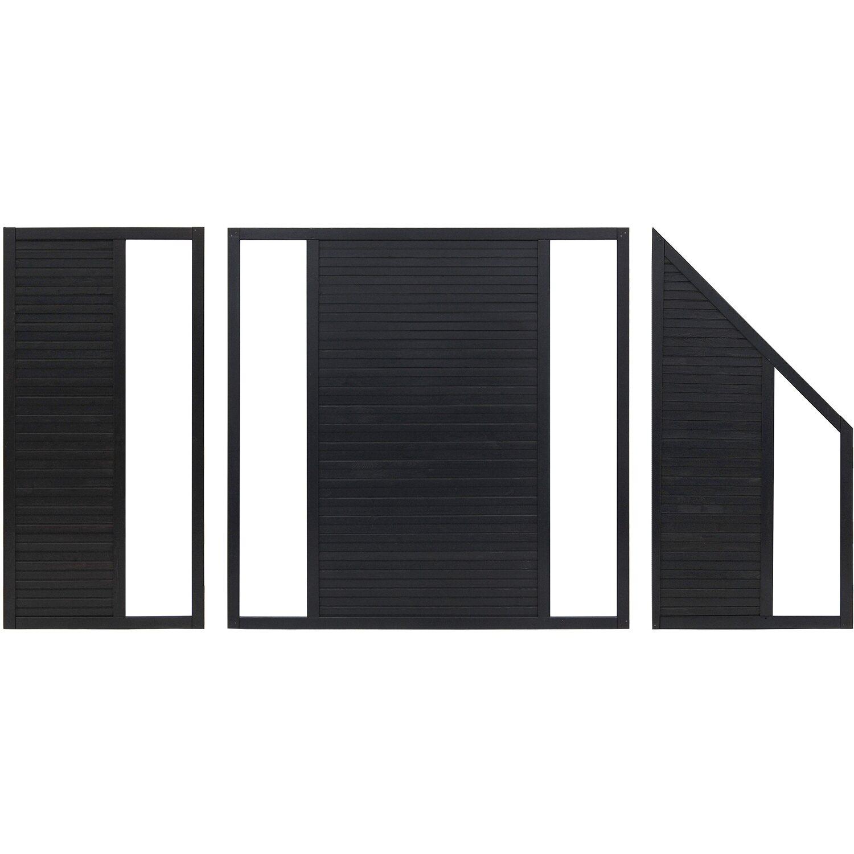 Vorgartenzaun Element Boston Anthrazit 90 cm x 180 cm kaufen bei OBI