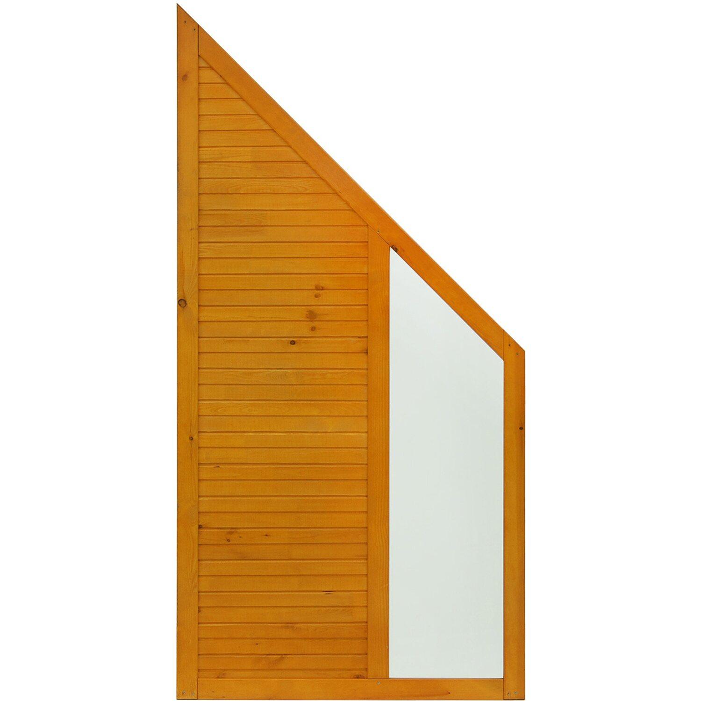 Andrewex Sichtschutzzaun Anschlusselement Boston Pinienfarben 180 x 90 cm auf 90 cm