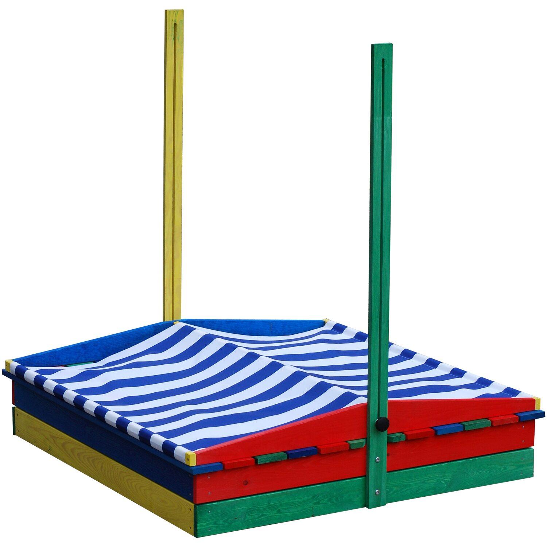 sandkasten mit sitzbank und dach bunt 110 x 110 x 110 cm kaufen bei obi. Black Bedroom Furniture Sets. Home Design Ideas