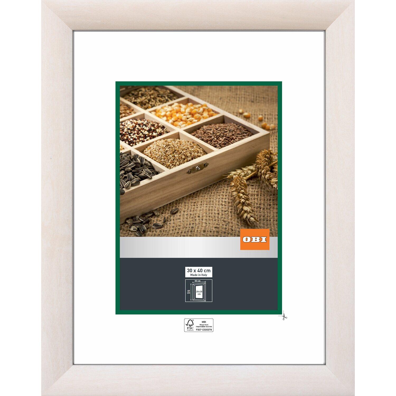 OBI Holz-Wechselrahmen Weiß 30 cm x 40 cm kaufen bei OBI