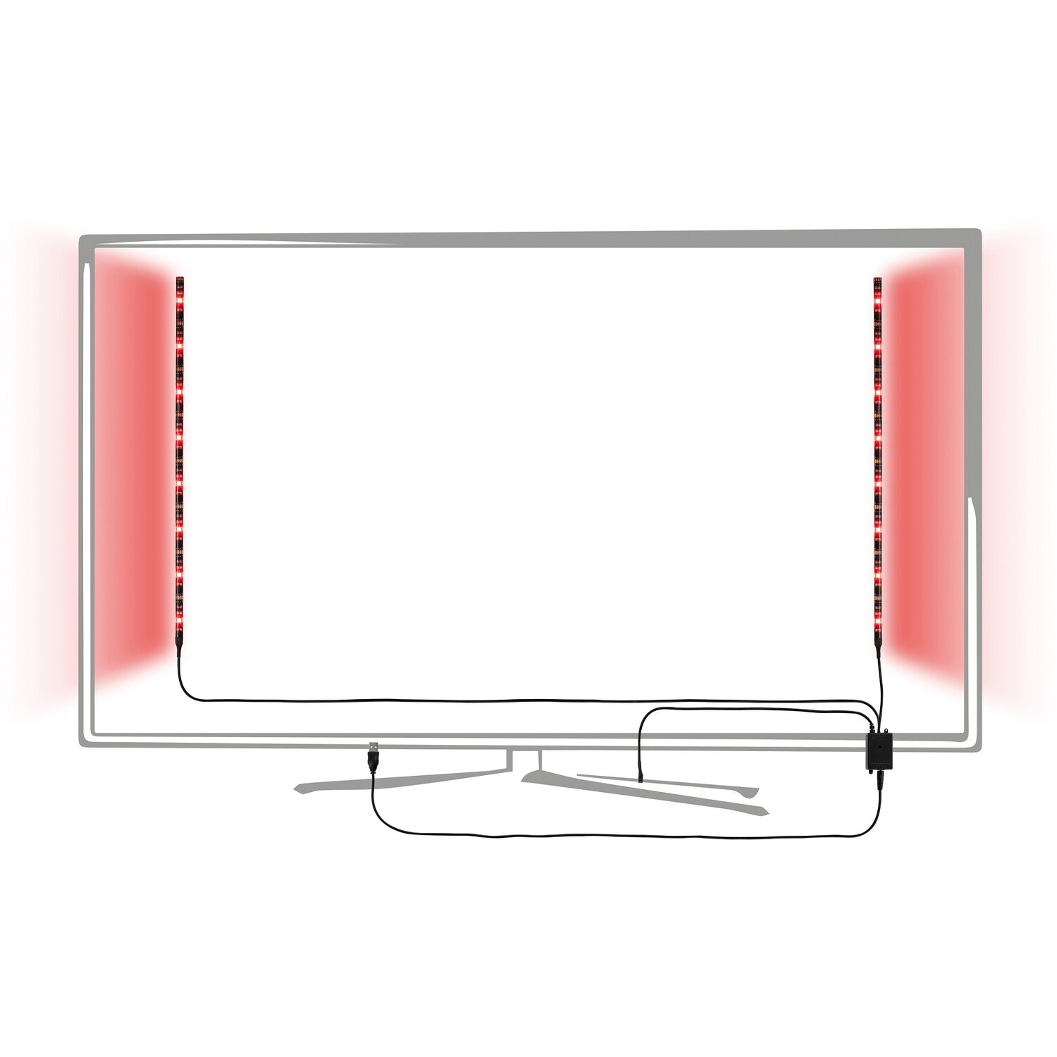 paulmann led strip set 2 x 50 cm rgb mit usb anschluss eek a a kaufen bei obi. Black Bedroom Furniture Sets. Home Design Ideas