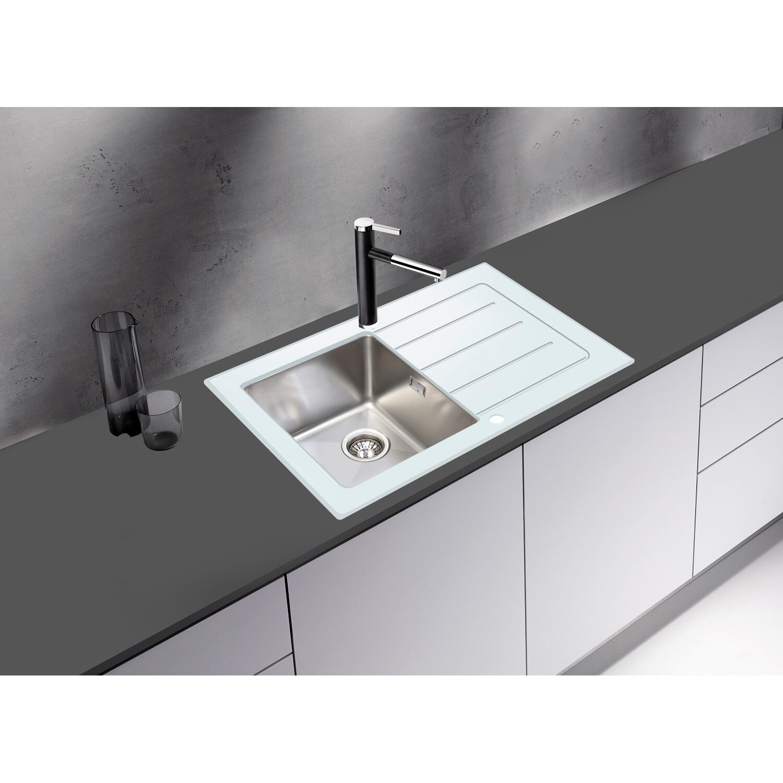 Respekta Glasspüle New York 86 cm x 50 cm Weiß kaufen bei OBI