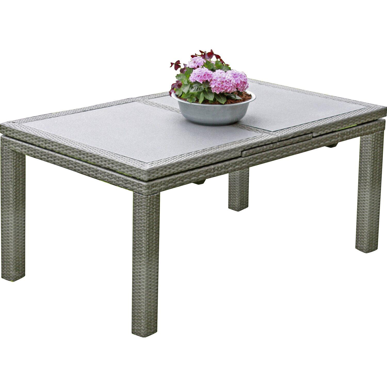garden pleasure tisch santander ausziehbar grau kaufen bei obi. Black Bedroom Furniture Sets. Home Design Ideas